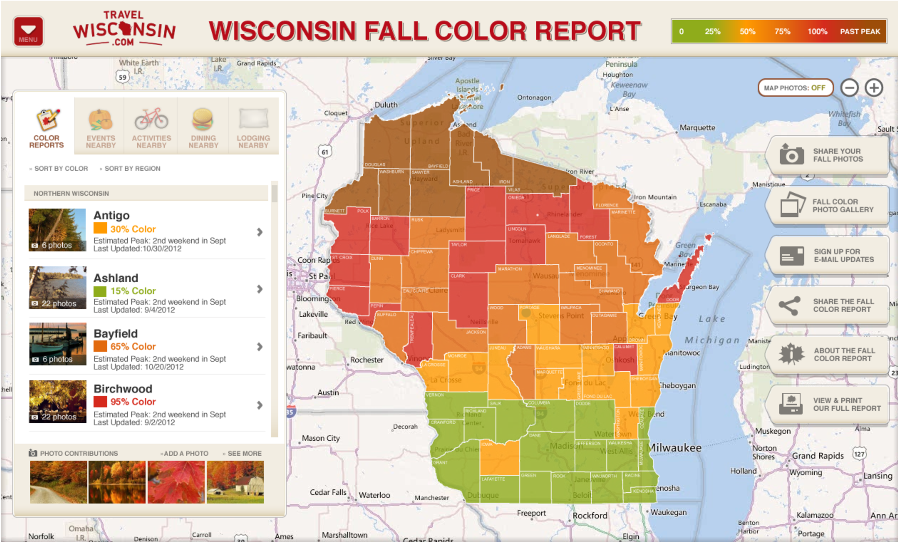 Travel Wisconsin Fall Color Report